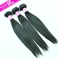 Brazilian Virgin Hair Straight Hair 3PCS/Lot Unprocessed Human Hair Weft Color 1B