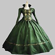 One-Piece/Dress Ball Gown Gothic Lolita Steampunk® / Victorian Cosplay Lolita Dress Green Vintage Long Sleeve Long Length Dress For Women