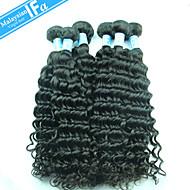 глубоко наращивание волос волна Малайзии девственной волос 5шт / много необработанной Малайзии цвет волос 1b