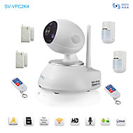 Snov® Wireless IP IR PTZ Camera with 6pcs Wireless Alarm Detector, Motion Detection, APP SV-VPC2K4