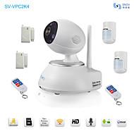 snov® cámara PTZ IR IP inalámbrica con detector de alarma inalámbrico 6pcs, detección de movimiento, app sv-vpc2k4