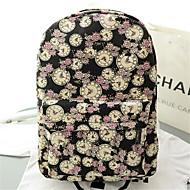 Women Canvas Baguette Backpack - Pink/Purple/Blue/Black