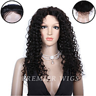Premierwigs 8''-24'' Indian Remy Natural Curly Full Lace Human Hair Wigs Silk Base Lace Front Wigs For Black Women 8A