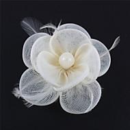 Dame/Blomsterpige Fjær/Polyester Headpiece Bryllup/Spesiell Leilighet/Avslappet/Utendørs fascinatorsBryllup/Spesiell