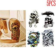 (5PCS) 2016  High Quality Creative Fashion Waterproof Skull