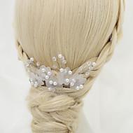 Peigne Casque Mariage/Occasion spéciale Cristal/Alliage/Imitation de perle Femme/Jeune bouquetière Mariage/Occasion spéciale 1 Pièce