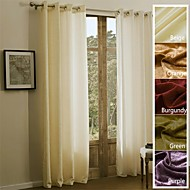 TWOPAGES Sophia Collection Solid Chenille Rayon Blend Heavy Weight Curtain Drape One Panel