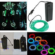 neon led fénye el vezetékes húr szalag kötél cső autó bár dance party dekoráció 3V Akkumulátorfelügyelet