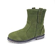 נעלי נשים - מגפיים - סוויד - מגפונים / מעוגל / סגור - שחור / חום / ירוק / בז' - שמלה / קז'ואל - עקב שטוח