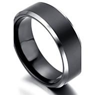 Mens tungsten Ring, Black & Silver,KR2035