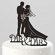 The Paper Bride and Groom  Kissing  Cake Topper-3