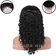 Premierwigs 8''-24'' Indian Remy Water Wave Full Lace Human Hair Wigs Silk Base Lace Front Wigs For Black Women