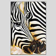 Peint à la main AnimalModern / Style européen Un Panneau Toile Peinture à l'huile Hang-peint For Décoration d'intérieur