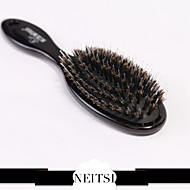 Neitsi® 1pcs 100% Soft Boar Bristle Hairbrush Black
