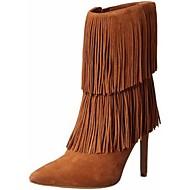 נעלי נשים - מגפיים - פליז - מגפונים - שחור / חום / אפור - משרד ועבודה / שמלה / קז'ואל - עקב סטילטו