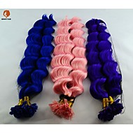 100Pcs Per Strand Synthetic Hair 18Inch Fusion U Tip Hair Extension