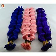 100ks za vlákna syntetické vlasy 18inch fúze u špičce prodlužování vlasů