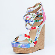 Women's Shoes Canvas Wedge Heel Wedges Sandals Party & Evening / Dress / Casual Multi-color