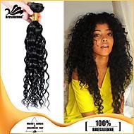 4stk brasilianske hårbunter vever jet svart krøllete innslaget 100% ubehandlet brasilianske menneskehår innslaget