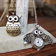 Man And Wwoman Quartz Owl Pocket Watch Wrist Watch Cool Watch Unique Watch