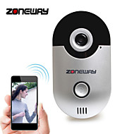zoneway® d1 wi-fi, video ovikello 1.0 2,5 mm laajakulmaobjektiivi, 10 metriä night vision