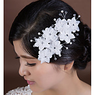 Women's Crystal/Imitation Pearl/Chiffon Headpiece - Wedding/Special Occasion Flowers 1 Piece