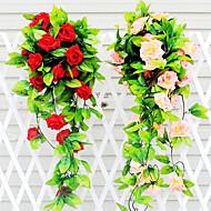 Silk / Plastic / Rattan Roses Artificial Flowers