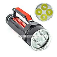 Lampes Torches LED LED 2 Mode 6000 Lumens Etanche / Rechargeable / Résistant aux impacts / Tête crénelée / Tactique / Urgence Cree XM-L2