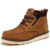 Men's Shoes Outdoor / Athletic / Casual Leather Boots Brown / Yellow
