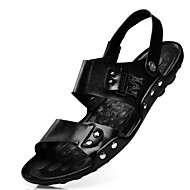 Herre-Lær-Flat hæl-KomfortFriluft Fritid Sport-Svart