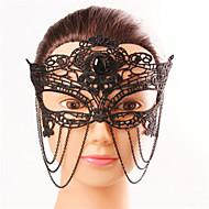 Halloween Fashion Sexy Black Diamond Black Lace  Tassel Eye Wear