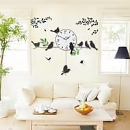 Redonda / Inovador Moderno/Contemporâneo Relógio de parede , Florais/Botânicos / Animais / Cenário / Casamento / Família Vido / Metal74cm