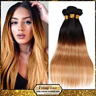 "1pcs / lot 10 ""-24"" unverarbeiteten brasilianischen reinen Haares 7a Grade zwei Tönen 1b / 27 ombre gerade Menschenhaar-Webart"