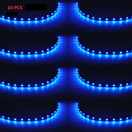 10PCS X 15 LED 30cm Car Motor Vehicle Flexible Waterproof Strip Light Blue 12V Sales