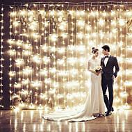 karácsonyi függöny KTV bárok esküvői csillogás vízesés fények dekorációs lámpák vízálló húr fény 3 * 3m 200led