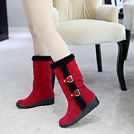 Women's Shoes Leatherette Low Heel Snow Boots /  Office & Career / Casual Black / Yellow / Red / Beige