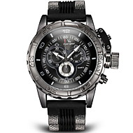 V6® Men's Military Style Black Case Silicone Band Quartz Wrist Watch (Assorted Colors) Cool Watch Unique Watch