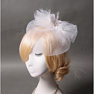 Women's Feather / Tulle Headpiece - Wedding / Special Occasion / Casual Fascinators 1 Piece