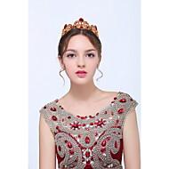 Vrouwen Goud / Licht Metaal Helm-Bruiloft / Speciale gelegenheden / Informeel Tiara's 1 Stuk Rood Ovaal