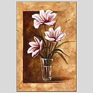 Ručně malované Květinový/Botanický motivModerní / evropský styl Jeden panel Plátno Hang-malované olejomalba For Home dekorace