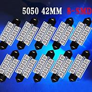 10 X Ultra Blue 42MM 5050 Festoon Dome Map Interior LED Light bulb 211-2 578 569