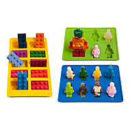 Different Shaped Lego silicone mold Robot for Candy Chocolate Block Ice Cube Tray Building Bricks Jelly Cake Mould