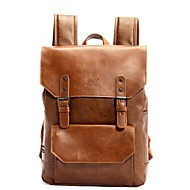 Casual Outdoor Backpack Men PU Brown Black
