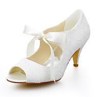 סנדלים - נשים - נעלי חתונה - נעלים עם פתח קדמי - חתונה / שמלה - שנהב