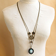 Retro Flower Multilayer Sweater Chain