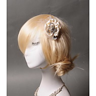 Women's Satin / Rhinestone / Tulle Headpiece - Wedding / Special Occasion / Casual Hair Clip 1 Piece