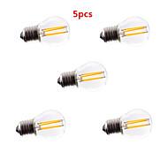 5kom G45 4W E27 400lm toplom / hladnom svjetlu žarnom niti bijela boja Edison 360 stupnjeva vodio žarulje sa žarnom niti (ac85-265v)