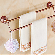 Towel Bar Gold Wall Mounted 64*15*10cm(25.2*5.9*3.9inch) Brass / Zinc Alloy Neoclassical