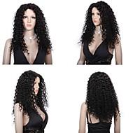 Premierwigs 10a 8 '' - 28 '' llena del cordón virginal gran cabello humano brasileño rizado pelucas de color natural, pelucas delanteras