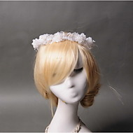 Women's Flower Girl's Lace Tulle Imitation Pearl Headpiece - Wedding Special Occasion Wreaths 1 Piece